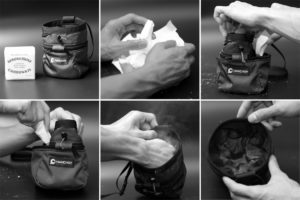Nachfüllen des Hula Chalkbags von Hanchor