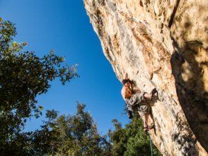 Klettern mit Chalkbag